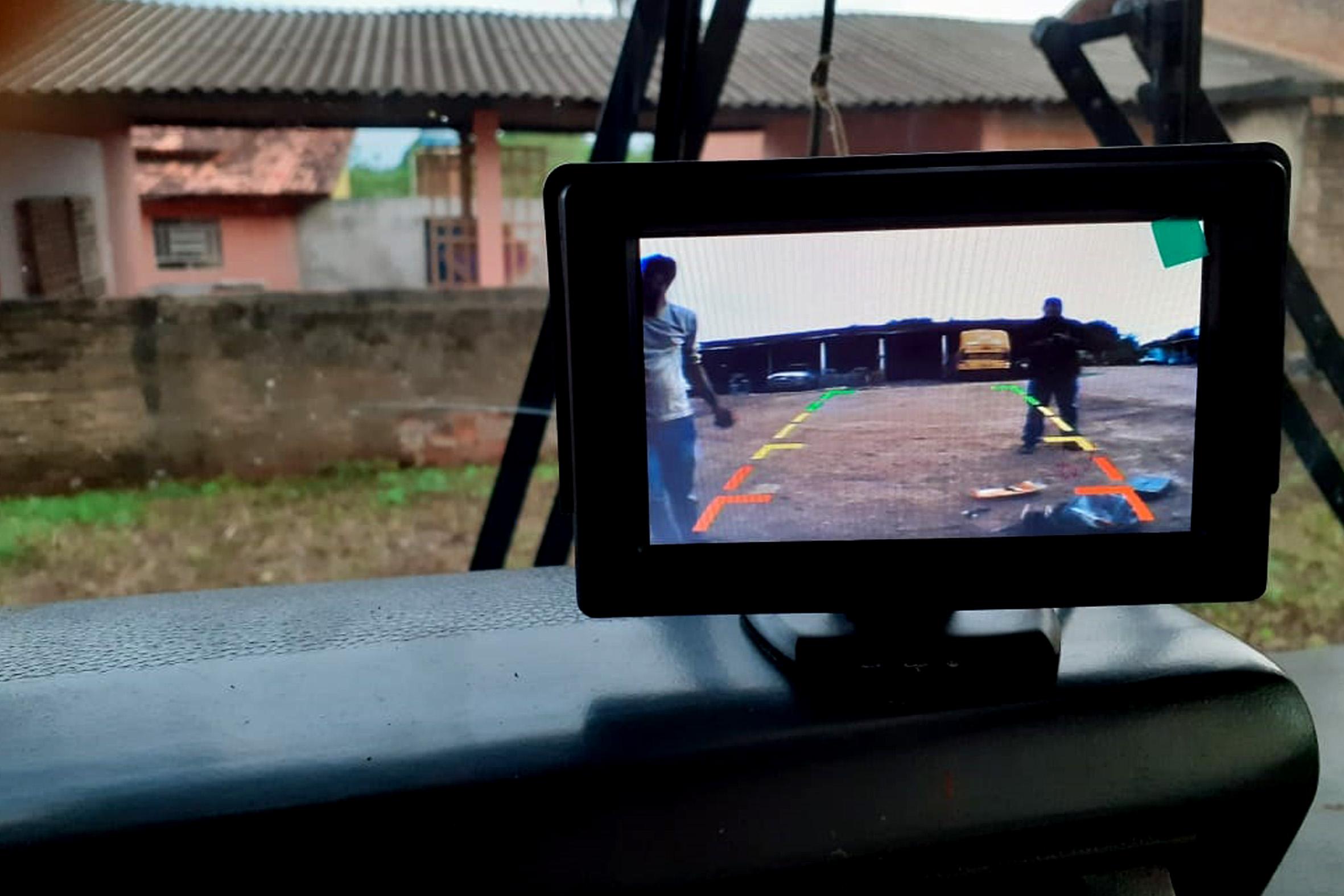 Veículos do transporte escolar de Guaraí recebem novas câmeras de monitoramento