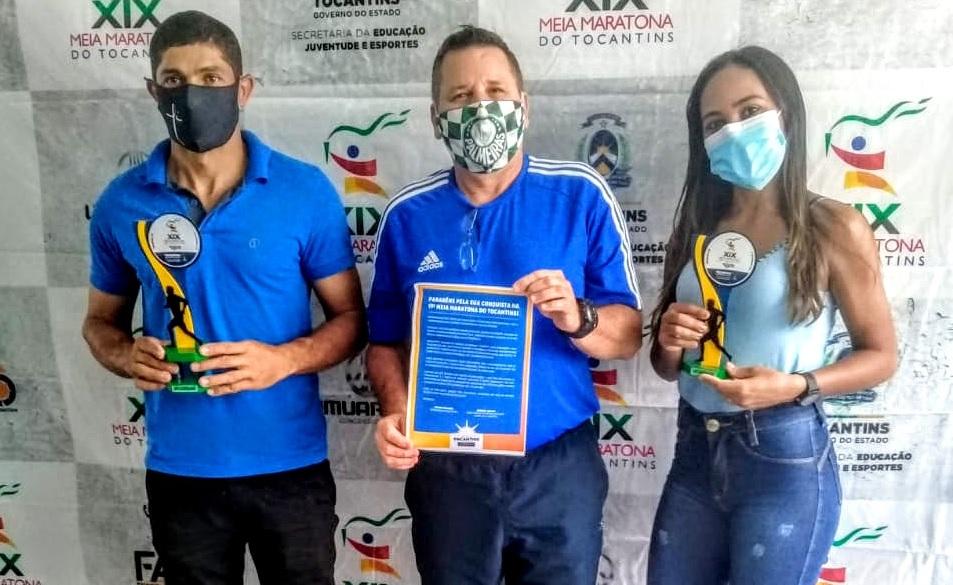 Atletas de Guaraí recebem premiações da 19ª Meia Maratona do Tocantins, disputada em 2019