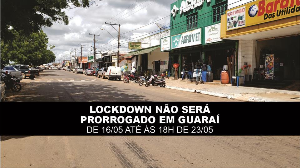"""Governo do Tocantins decide NÃO prorrogar """"lockdown"""" em 35 cidades, incluindo Guaraí"""