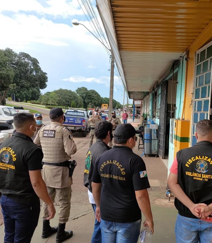 Fiscalização do cumprimento de novo decreto para contenção da Covid-19 é iniciada em Guaraí