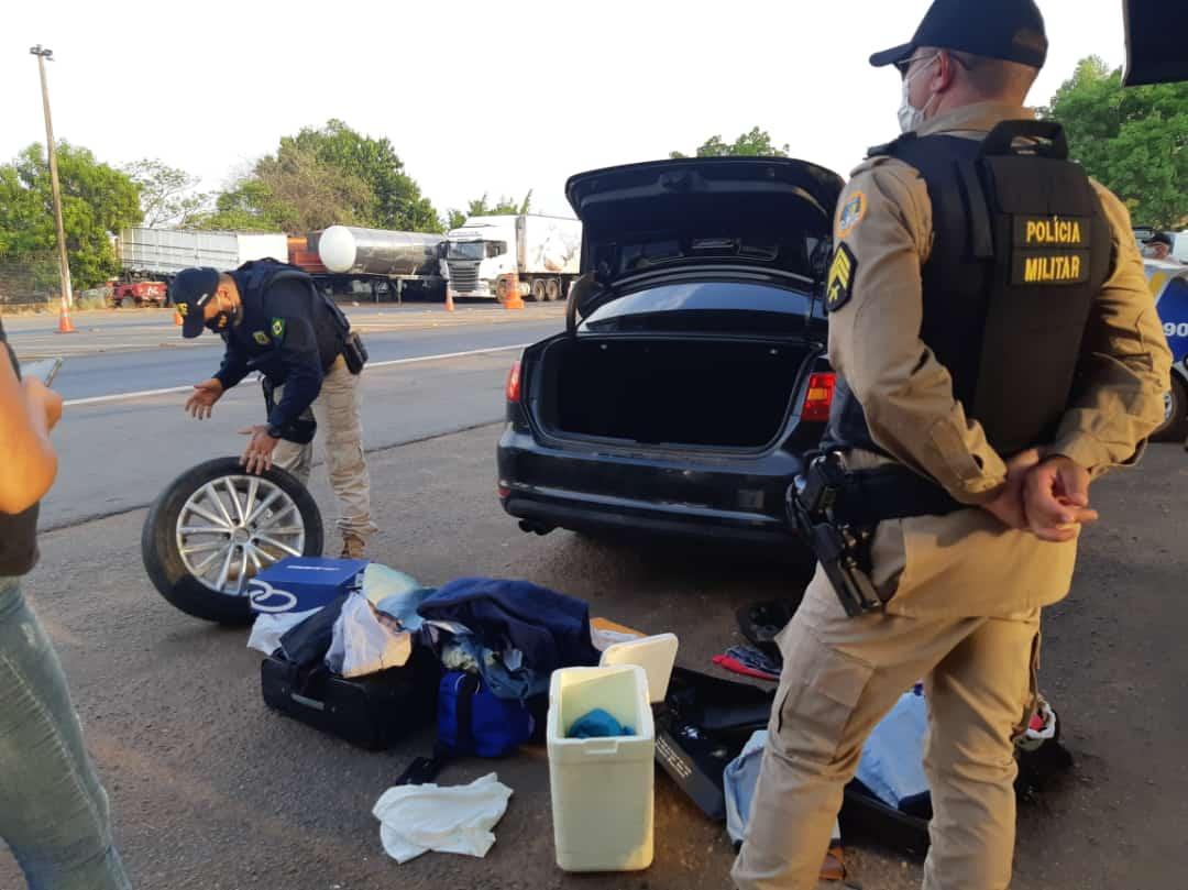 Durante ação conjunta, PRF e PM/TO prendem três suspeitos de praticarem furto em Guaraí
