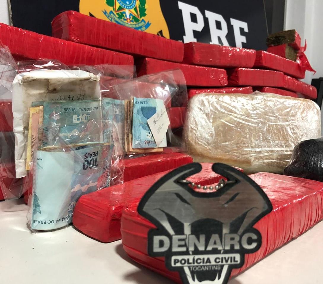 31Kg de drogas são apreendidas em Guaraí durante operação conjunta entre PC/TO e PRF