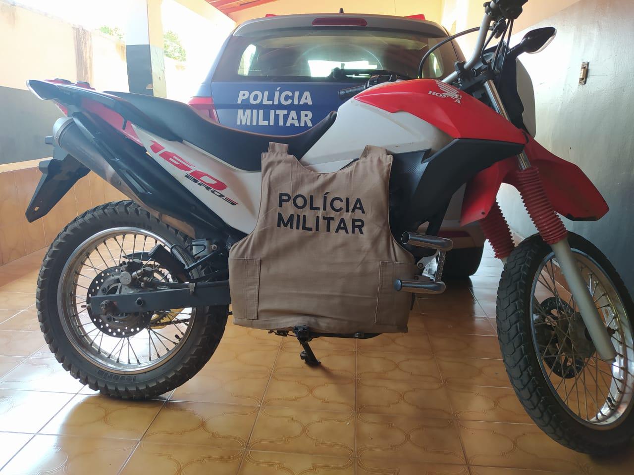 Bros roubada em Guaraí é recuperada pela PM/TO; veículo foi encontrado em Miranorte