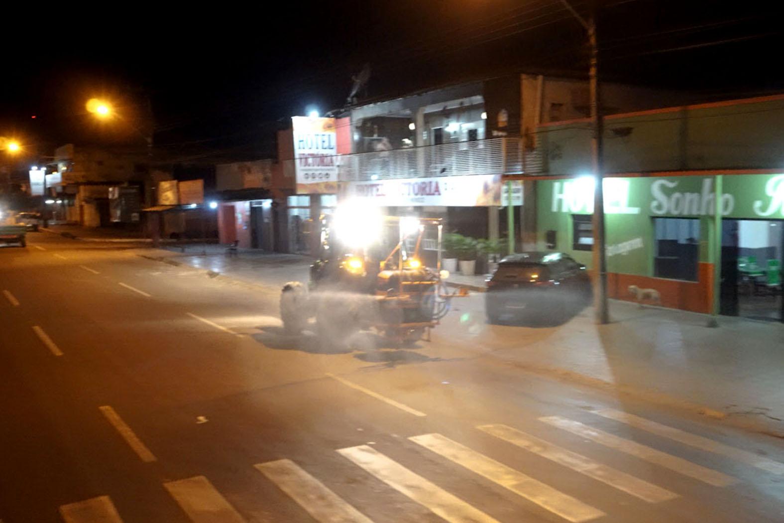 Tocantins e Fortaleza serão as próximas vias a receber desinfecção contra a Covid-19 em Guaraí