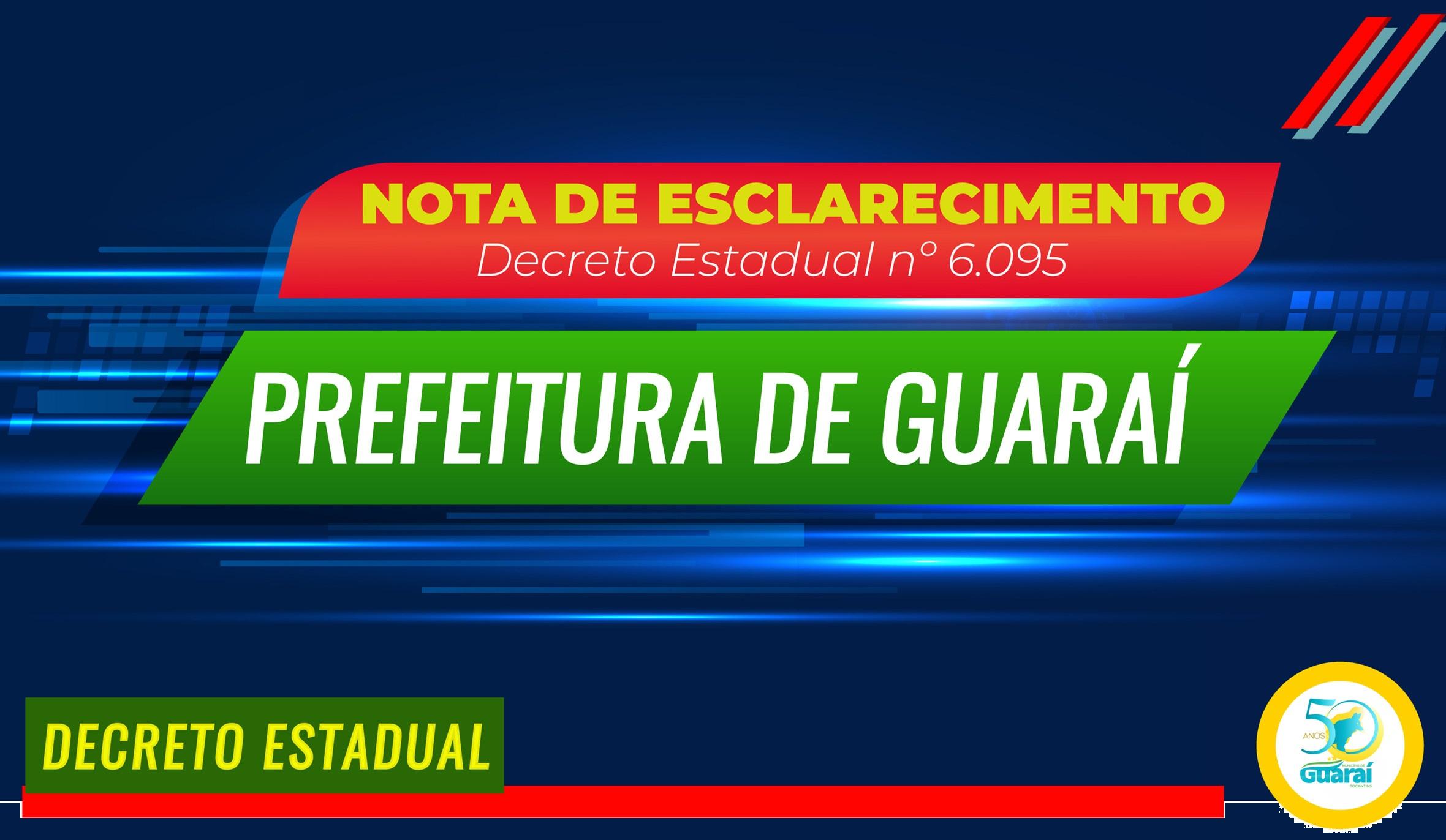 """Em nota, Prefeitura de Guaraí diz ter """"recebido com surpresa"""" decisão de lockdown estadual"""