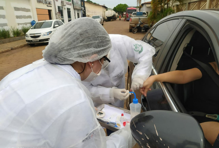 """""""Dia D"""" da testagem para Covid-19 contará com serviço """"drive-thru"""" em Guaraí no dia 31/10"""