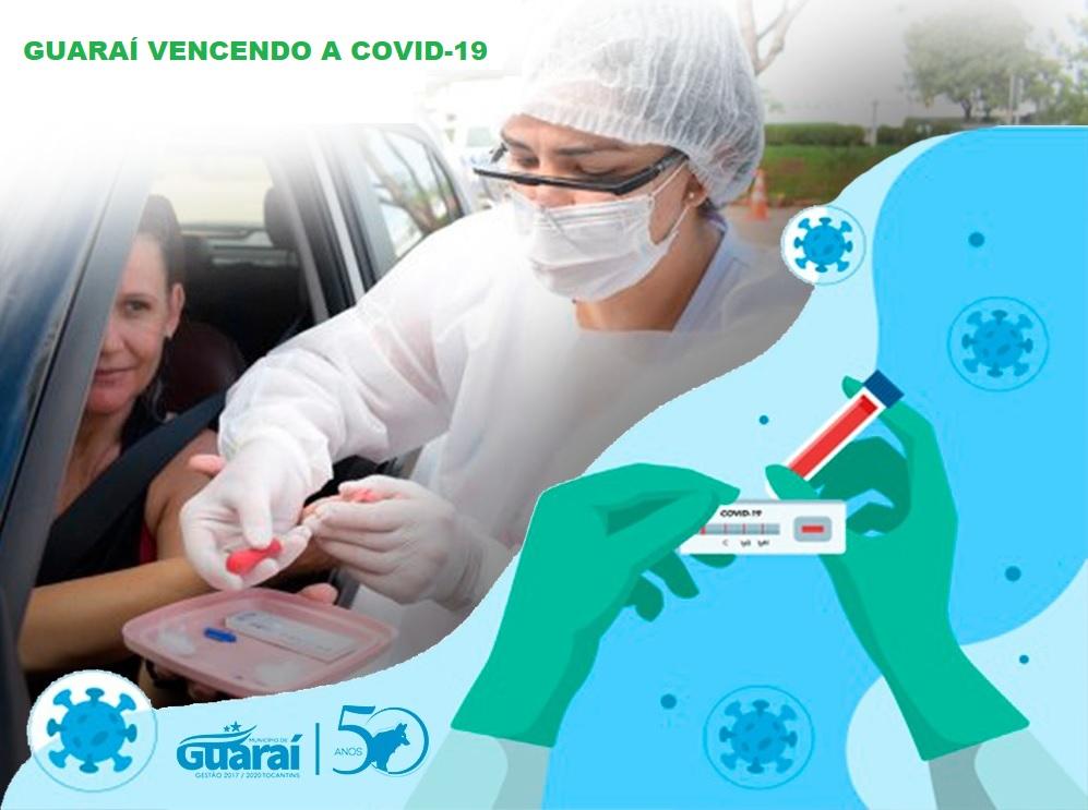 3ª etapa da testagem em massa soma 10 casos de Covid-19 em Guaraí com 691 examinados