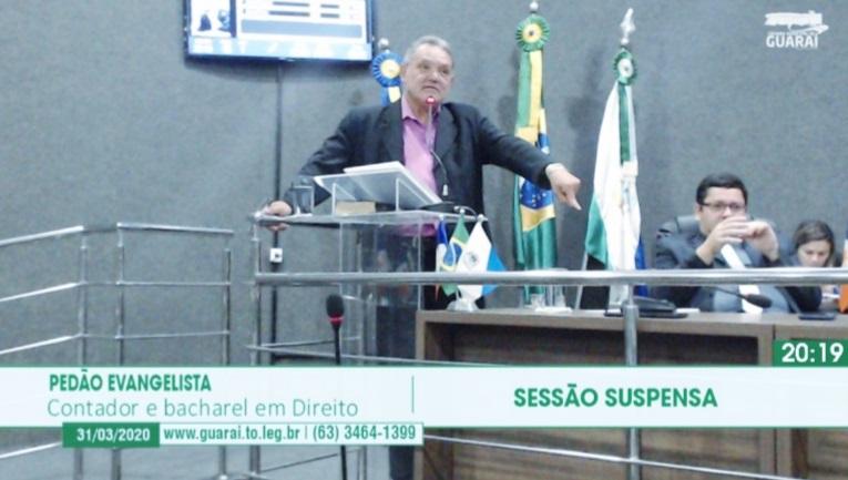 """""""Pedão"""" vai a Câmara explicar projeto popular que pede redução da tarifa de esgoto em Guaraí"""