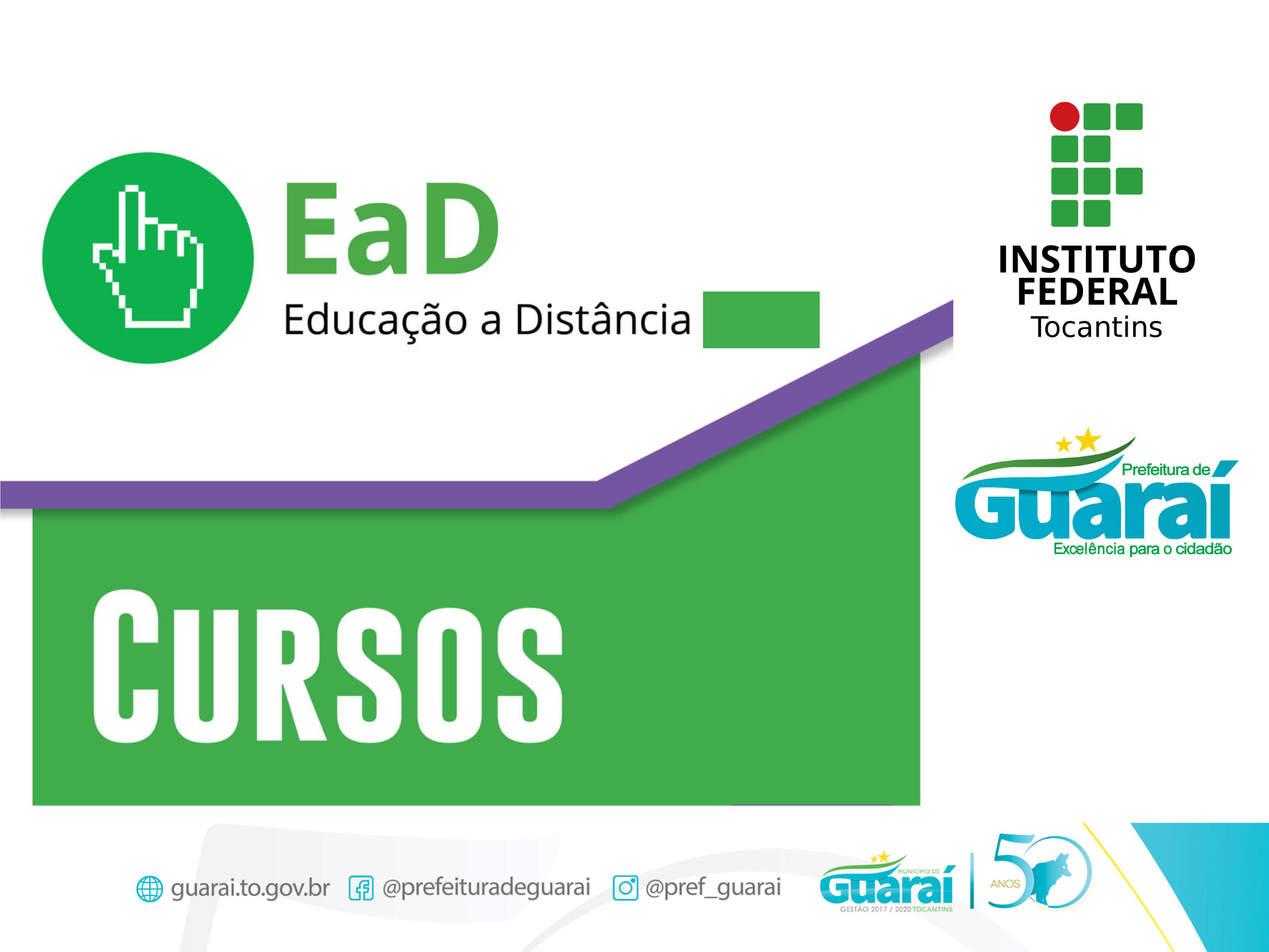 Divulgado novo prazo para o início das aulas dos 5 cursos técnicos EaD da IFTO em Guaraí