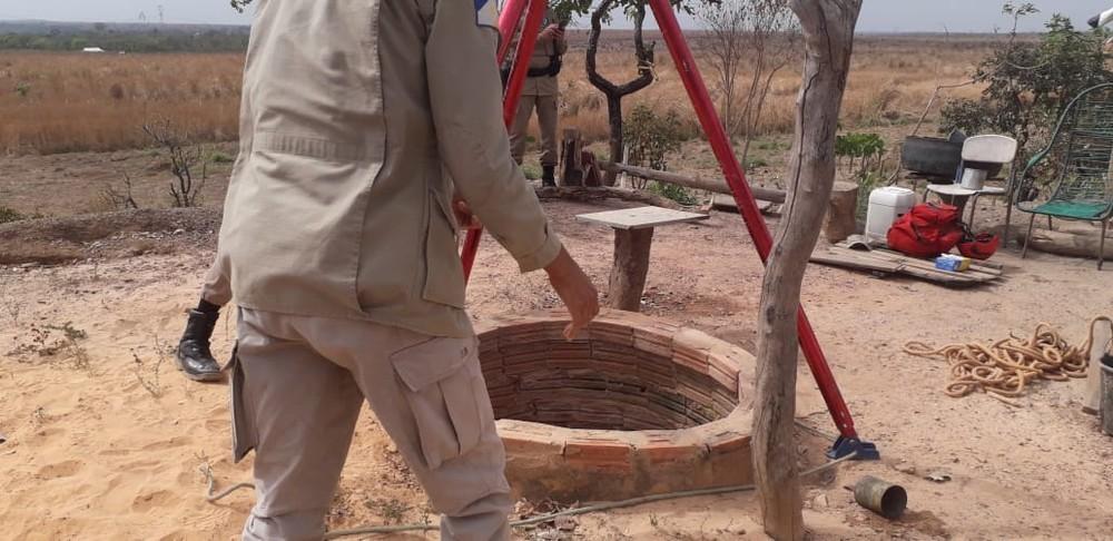 Bombeiros retiram corpo de vigia guaraiense encontrado dentro de poço na zona rural de Tabocão